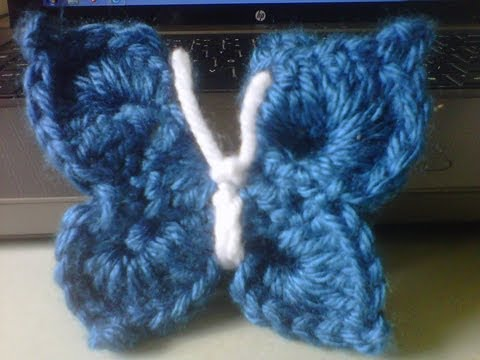Easy 3D crochet butterfly
