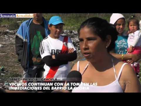 Vecinos continúan con la toma en las inmediaciones del barrio La Gloria