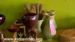 Bamboo decorative items Dilli haat