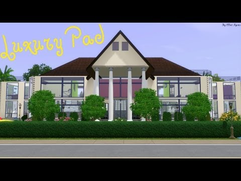 Sims 3 House Building Luxury Pad Walkthrough