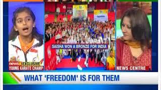 Girl Power: Young Karate Champ Saisha Bakhru on NewsX - NEWSXLIVE