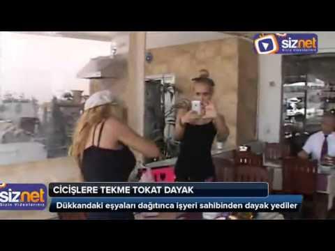 Esra Ceyda Kardeşler Bodrumda Esnaftan Tekme Tokat Dayak Yedi !!