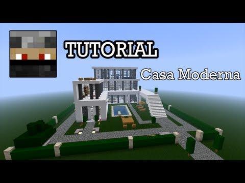 Minecraft como hacer una casa moderna vidoemo for Casa moderna minecraft tutorial