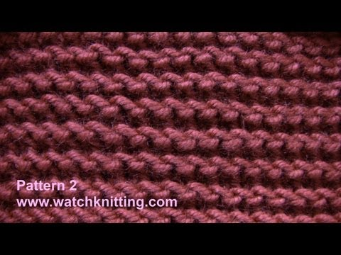 Garter stitch - Free Knitting Patterns Tutorial - Watch Knitting - pattern 2- garter stitch