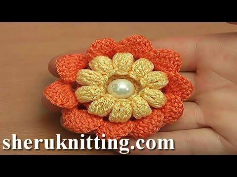 Crochet Flower With Popcorn Stitches Tutorial 115