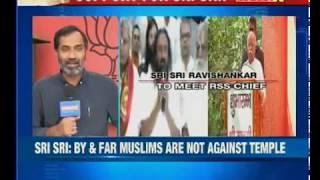 Ram Mandir push: Sri Sri Ravi Shankar to meet RSS Chief Mohan Bhagwat today - NEWSXLIVE