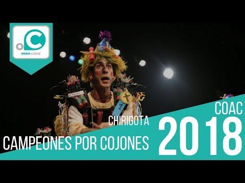La agrupación Campeones por cojones llega al COAC 2018 en la modalidad de Chirigotas. Primera actuación de la agrupación para esta modalidad.
