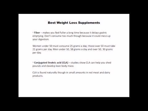 What Are The Best Weight Loss Supplements