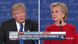 Presidential Debate Highlights | Clinton, Trump Debate Cybersecurity, Hacks - ABCNEWS