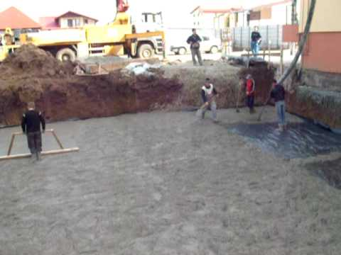 Turnare beton egalizare