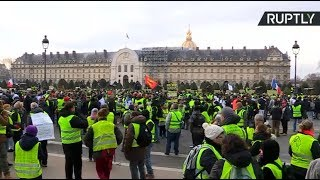 Yellow Vests protest in Paris, Act 10 - RUSSIATODAY
