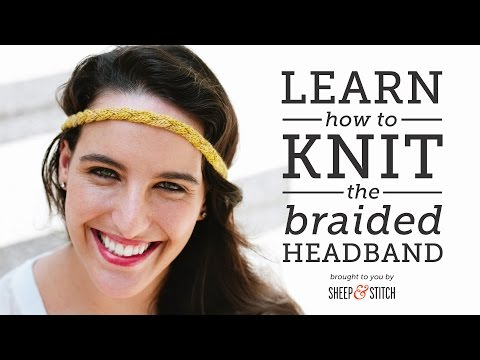 How to Knit an Easy Braided Headband