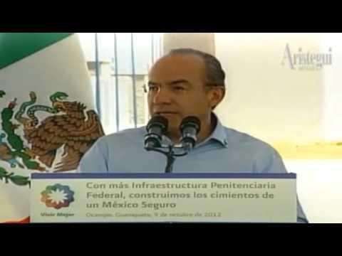 Calderón felicita a Marina por caída de 'El Lazca'