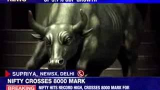 Nifty hits record high, crosses 8000 mark for the 1st time - NEWSXLIVE