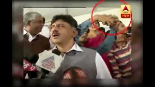 Karnataka: Congress' Shivakumar slaps youth for taking selfie - ABPNEWSTV