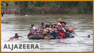 🇲🇽 Migrant caravan swims and rafts its way into Mexico | Al Jazeera English - ALJAZEERAENGLISH