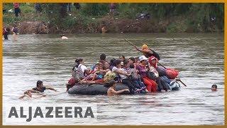 🇲🇽 Migrant caravan swims and rafts its way into Mexico | Al Jazeera English - ALJAZEERAENGLISH