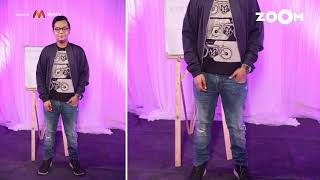 Renil's look with cycle print T-shirt with navy bomber jacket | Renil's OOTD - ZOOMDEKHO