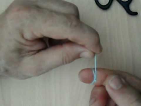 Cómo hacer un nudo fácil al final de un hilo