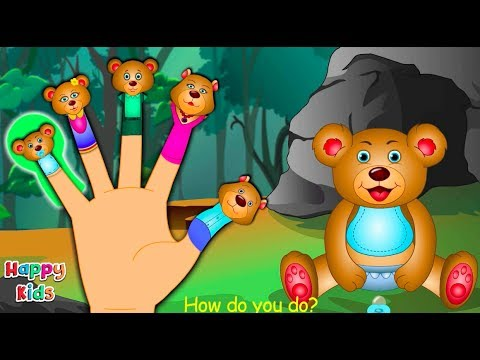 Teddy Bear Finger Family Nursery Rhyme | Cartoon Songs For Children