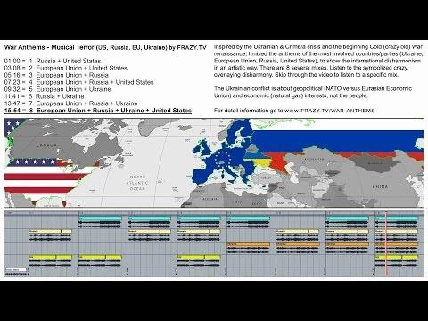 Video screenshot Synapsenkitzler Mix der Nationalhymnen, von den an dem Ukraine-Konflikt beteiligten Parteien