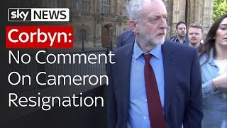 Corbyn: No Comment On Cameron - SKYNEWS