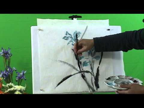 Learn How to Paint Blue Flag Iris with Henry Li and a Black Friday Coupon at BlueHeronArts.com