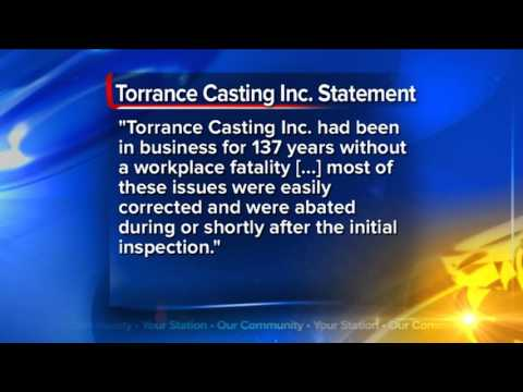 OSHA cites Torrance Casting for 10 safety violations