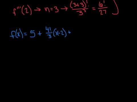 Taylor Series Review ~ Given nth Derivative