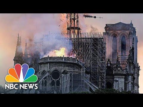 В Париже горит Собор Парижской Богоматери 15.04.2019