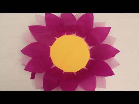 how to make tissue paper flowers for kids