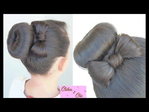 Peinado: Recogido/Dona con Lazo!! - Hairstyle: Donut Bun Bow