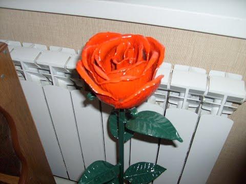 Роза своими руками ютуб 16