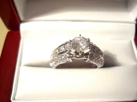 CZ Engagement Ring, CZ Ring, Cubic Zirconia Engagement Ring