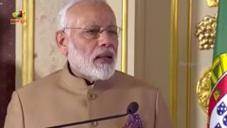 PM Modi at the Joint Press Statements with PM of Portugal António Costa in Portugal | Mango News - MANGONEWS