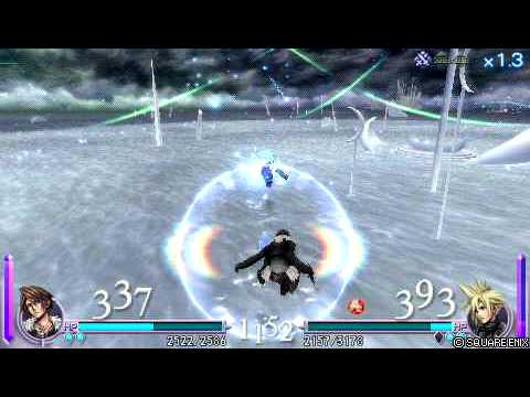 Dissidia: Final Fantasy [ENG] Squall vs Cloud