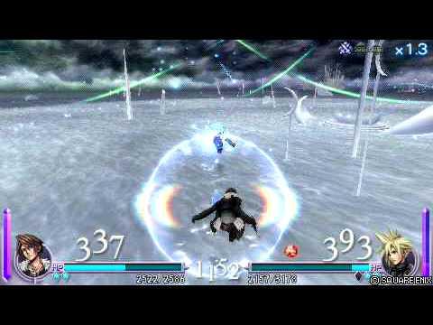 Dissidia: Final Fantasy [ENG] Squall vs Cloud