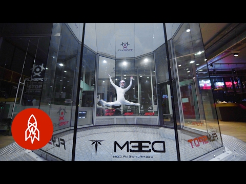 This Indoor Skydiver Dances on Air