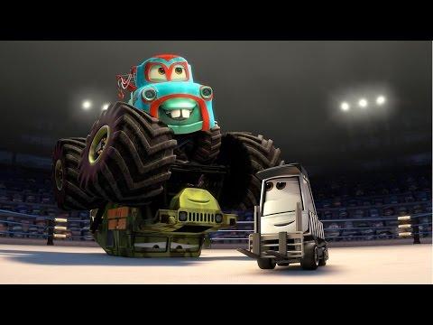 Camiones Monstruo Destructores, Grandes Camiones dibujos animados para niños