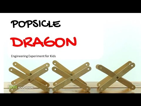 Popsicle Dragon - Engineering Experiment for Kids at Home