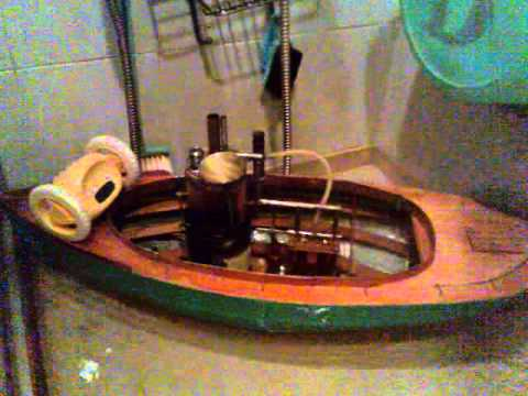 Home made model steam boat water test