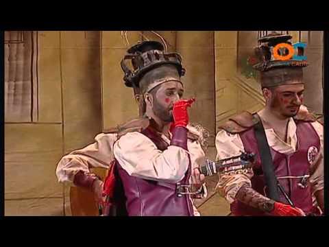 Sesión de Cuartos de final, la agrupación Los estorninos coloraos actúa hoy en la modalidad de Chirigotas.