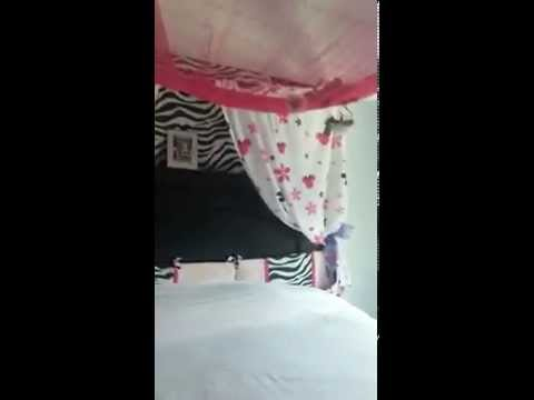 Canopy bed/Nursery bedding put to use during your child's preteen yrs/