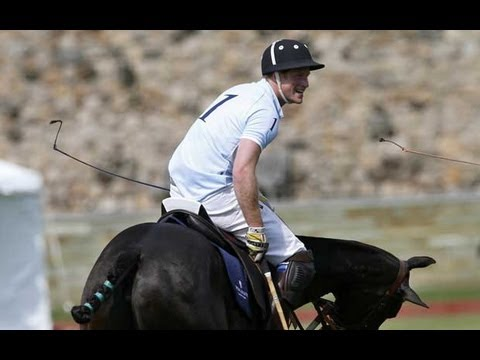 Prince Harry plays polo as he ends US tour