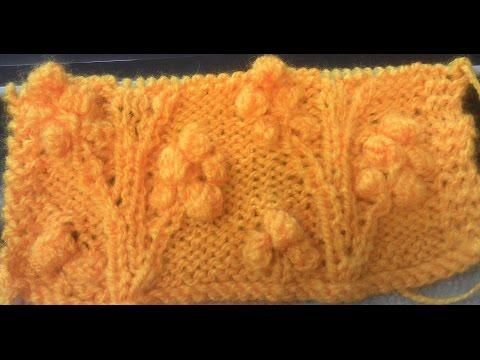 Cherry Tree in hindi Knitting Design No #56
