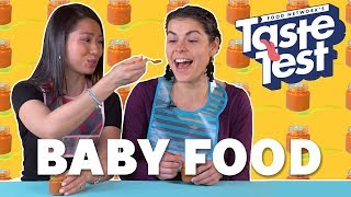 Adults Trying Baby Food 👶TASTE TEST! - FOODNETWORKTV