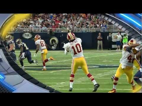 Robert Griffin III 68 Yard Touchdown Pass to Leonard Hankerson HD