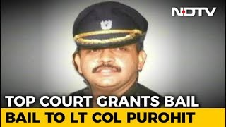 Malegaon Blast Accused Lt Col Purohit, In Jail For 9 Years, Gets Bail - NDTV