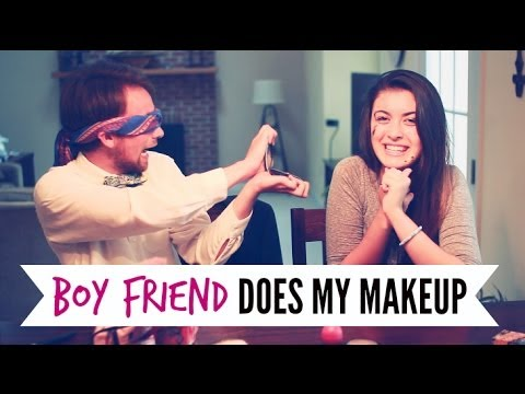 BOY FRIEND DOES MY MAKEUP | hellokaty