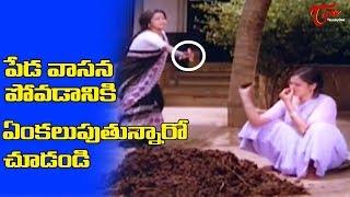 పేడ వాసన రాకుండా ఉండటానికి ఏంకలుపుతున్నారో చూడండి | Telugu Movie Comedy Scenes | NavvulaTV - NAVVULATV
